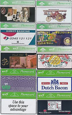 BT Phonecard 10 x used BT Phonecards - see picture
