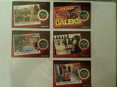 Dr Who & The Daleks - Daleks Invasion Earth 2150 A.D 5 Publicity Gold Foil Cards