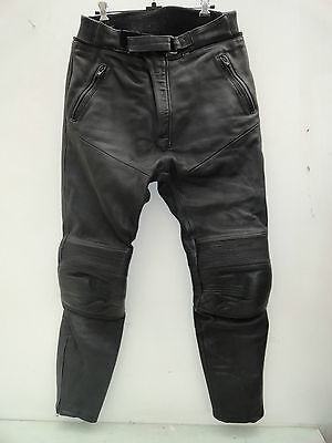 Mens Richa Leather Motorcycle Trousers Size 36 R
