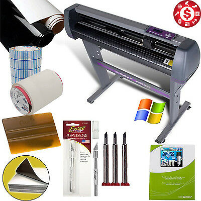 "28"" Vinyl Cutter Sign Sticker Making Machine + Cut Software Beginners Bundle"