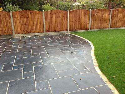 Black Lime Calibrated Indian Limestone Paving 600 Mixed Pack 19.50m2 (PREMIUM)