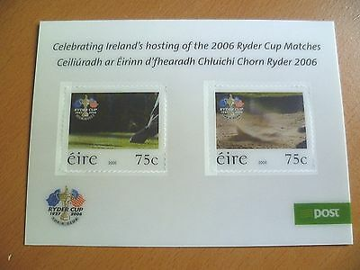 Ireland Stamps : 2006 Ryder Cup Golf Tournament, K Club LENTICULAR MNH