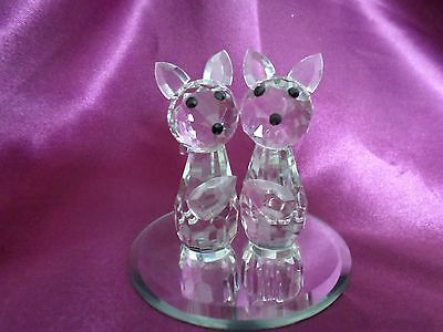"Crystal Clear Collectables. ""2 Cats On A Mirror"""