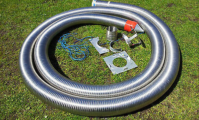 "11 metre 6 "" Diameter Multi Fuel Chimney Liner Brand New"