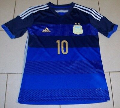 *** Argentina Football Shirt - 10 MESSI - Away Blue - Adidas - Adult Medium ***