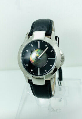 D&G Dolce and Gabbana Unisex Texas DW0543 Watch With Black Dial Stone