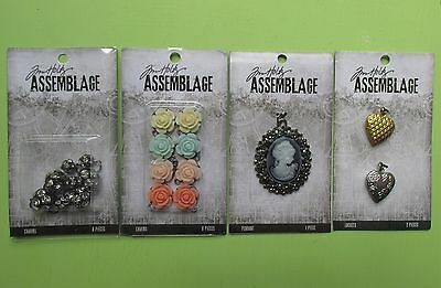 Tim Holtz Assemblage Vintage Industrial Jewelry Charms lot 1 NEW RELEASE