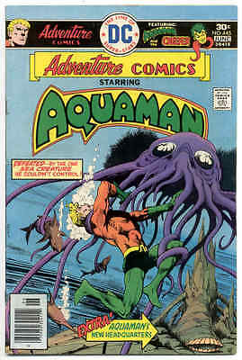ADVENTURE COMICS 445 DC Comics 1976 AQUAMAN w/ CREEPER back-up story VF