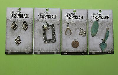 Tim Holtz Assemblage Vintage Industrial Jewelry Charms LOT 2 NEW RELEASE