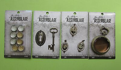 Tim Holtz Assemblage Vintage Industrial Jewelry Charms LOT 3 NEW RELEASE