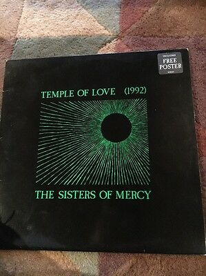 "The Sisters Of Mercy 12"" Vinyl Temple Of Love 1992"