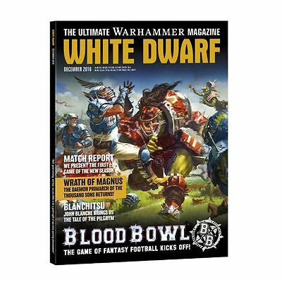 Warhammer White Dwarf Dezember 2016 Blood Bowl Thousand Sons Chaos Space Marines