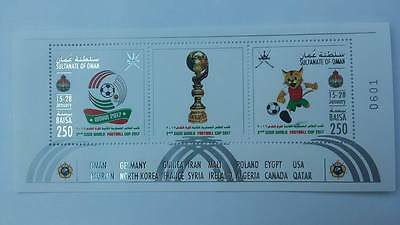 Oman 2017 2nd CISM  football world cup stamp