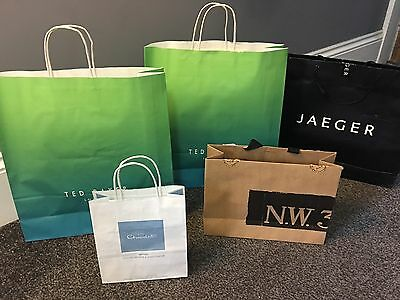 Ted Baker, Jaeger, Hotel Chocolate, HOBBS Paper Shopping Bags