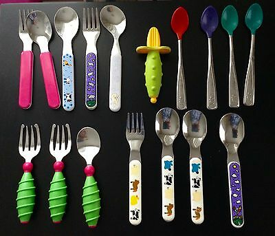 Toddler Forks and Spoons Stainless Steel
