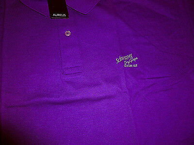 Schweppes Dry Grape Ginger Ale Golf Shirt - NOS - In Original Wrapper - Adult M