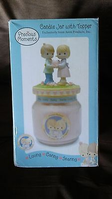 2004 Precious Moments Candle Jar With Topper !!New In Box!!