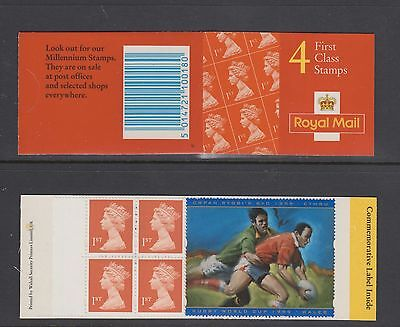 GB STAMPS  Booklet HB18  1999  4x 1st  class Rugby  World Cup