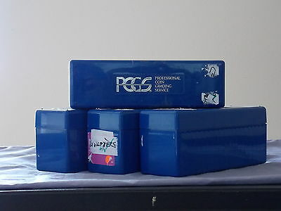 Lot of 4 PCGS Boxes for Certified Coins Used Each Box Holds 20 Slabs