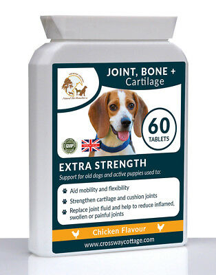 Hip and Joint Support for Old Dogs & Active Working Dogs & Puppies (60 Tablets)