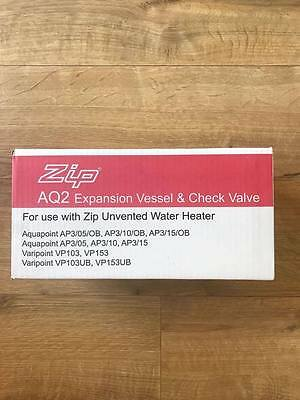 Zip AQ2 Expansion Vessel And Check Valve Kit for use with unvented water heater