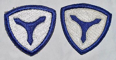 Us Army 3Rd Service Command Variation Patch Lot Ssi Cut Edge Ww2 Era Original