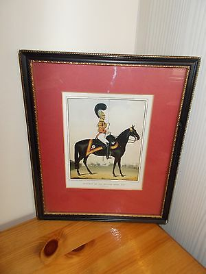 A VINTAGE FRAMED PRINT OF AN OFFICER OF THE BRITISH ARMY No 43
