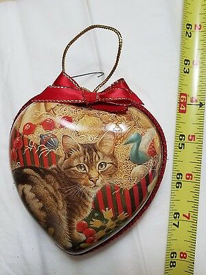 Vintage Cut Parer Christmas Cat Christmas Tree Ornament