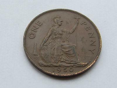George VI - 1950  Penny - Good collectable coin