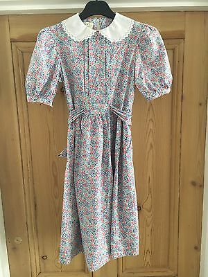 Laura Ashley Mother And Child Girls 9-10 Floral 1990's Vintage Summer Dress
