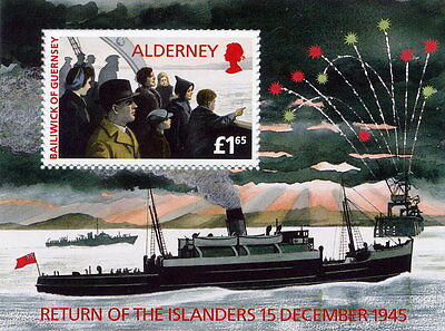 MNH - ALDERNEY - Mini Sheet - MSA84 - 'Return of the Islanders'