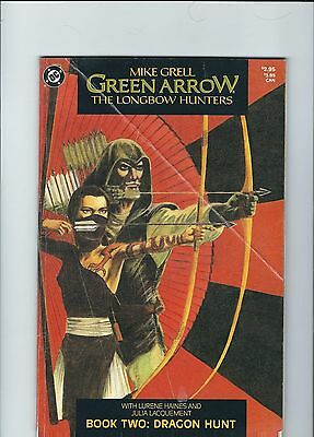 GREEN ARROW: THE LONGBOW HUNTERS (1987) #2 crease on cover