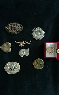 Vintage  Costume jewellery brooches  lot