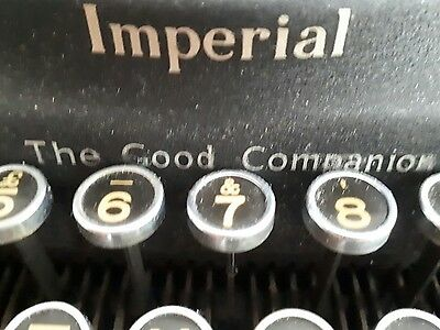 Imperial Good Companion Typewriter in case