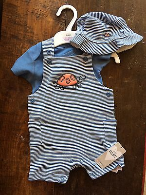 BNWT M&S Baby Boy Dungarees 3-6 Months