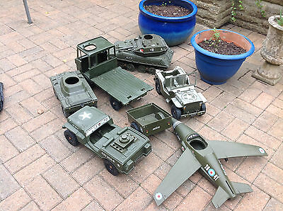 CHERILEA Army Vehicles /1970's Tank / Plane/Lorry Collectible ACTION MAN Vintage