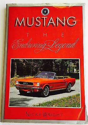 Mustang The Enduring Legend Book Signed By Carroll Shelby By Nicky Wright
