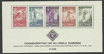 Philippines 1959 year., block mint stamps MNH (**) = Boy Scouts =