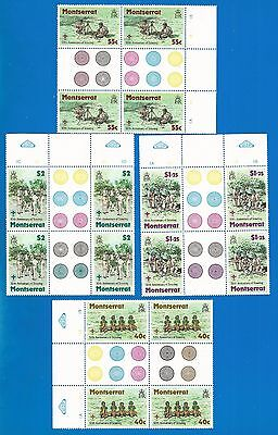 Monserrat 1979 , block of 4 , mint stamps MNH (**) = Boy Scouts =