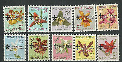 Nicaragua 1965  Boy Scouts  set , stamps MNH (**)