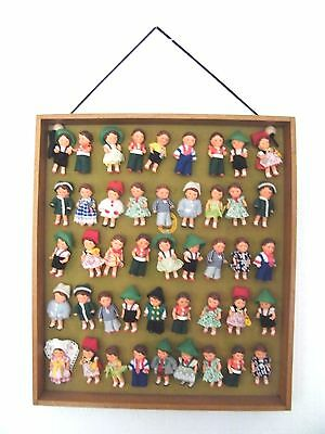 Fantastic Rare Collection of 45 Vintage German Ari Doll/Dolls On Original Card
