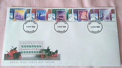 1988 Christmas set Royal Mail First Day Cover,London EC, U/A