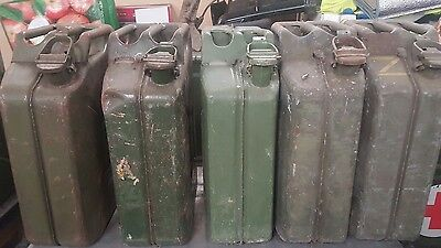 Joblot Of 7 metal Jerry Fuel Cans 2 are military