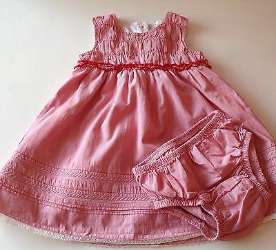 MOTHERCARE baby girls dress with matching pants age 6-9 months