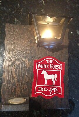Vintage The White Horse Scotch Whisky Liquor Bar Sign Man Cave Pub Tavern Garage