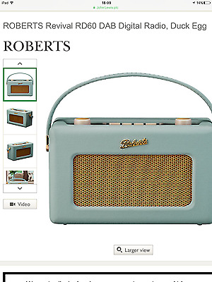 Roberts revival rd60 radio -brand new- boxed duck egg blue