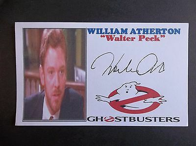 """""""Ghostbusters"""" William Atherton """"Walter Peck"""" Autographed 3x5 Index Card"""