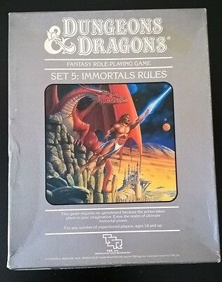 Dungeons & Dragons Set 5 Immortal Rules TSR 1017 D&D Complete OOP