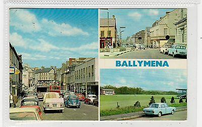 BALLYMENA: Co. Antrim Northern Ireland multiview postcard (C28899)