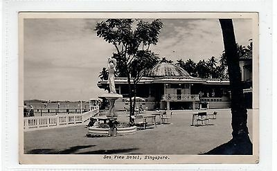 SEA VIEW HOTEL: Singapore postcard with RENGAM postmark (C28943)